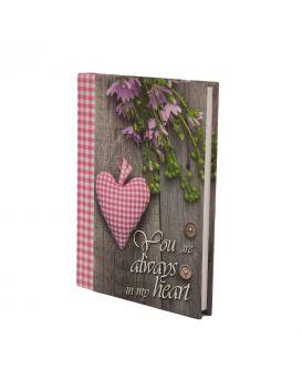 Ежедневник недатированный A5 «ROMANTIC» 288 стр., розовый