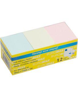 Блок бумаги для заметок 38 х 51 мм, 100 л., в ассортименте