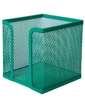 Бокс для бумаги, металлический, зеленый 100х100х100 мм