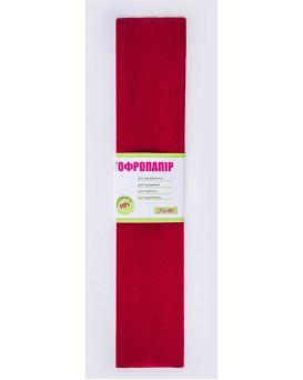 Гофро - бумага 110%, 50 х 200 см, бордовая
