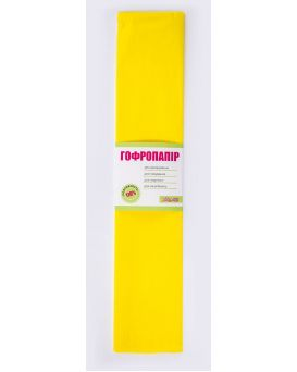 Гофро - бумага 110%, 50 х 200 см, жёлтая