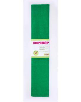 Гофро - бумага 110%, 50 х 200 см, зелёная