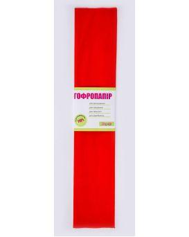 Гофро - бумага 110%, 50 х 200 см, красная