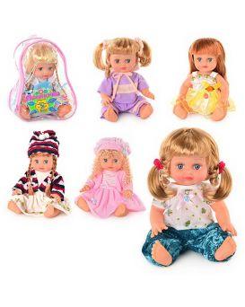 JT Кукла ОКСАНОЧКА 5078-5057-5068-5079 в ассортименте, муз(укр), 33см, в рюкзаке, 26-20-13м