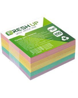 Блок бумаги для заметок клееный 85 х 85 мм, 400 л. «Классика» Fresh Up