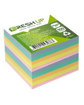 Блок бумаги для заметок 90х90х900 листов не клееный, Классика Fresh Up