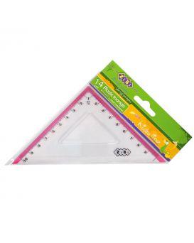 Треугольник 10 см с розовой полоской, в блистере