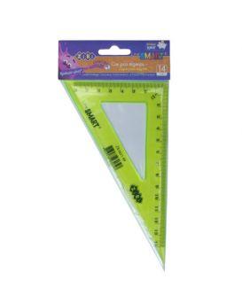 Треугольник 14 см, 90°х 60° «SMART» тонированный, в ассортименте, в блистере