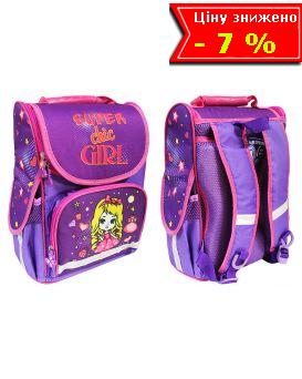 Рюкзак - короб ортопедический «Девочка. 8» 25,5 х 34,5 х 13 см, ТМ Smile