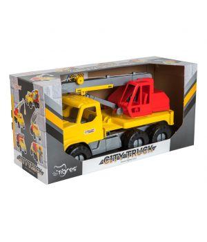 Машина «Подъемный кран» City Truck в коробке, TM WADER