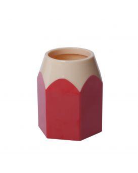 Подставка для ручек «Карандаш» пластиковая, красная.