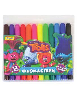 Фломастеры 12 цветов «Jumbo. Trolls Dream»