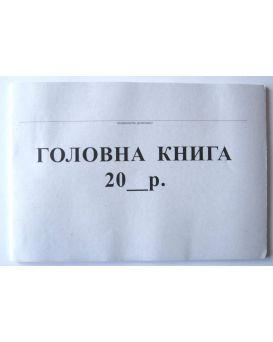Главная книга бюджетного учреждения 48 л., офсетная бумага