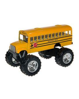 Автобус металлический, инерционный, 13см, гум.колеса, открыл. двери, амортиз, в кор-ке, 15-13,5-9 см