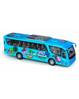 Автобус металлический, инерционный, 17,5 см,резин.колеса, открыл.двери,в ассортименте, у коробц 20,5