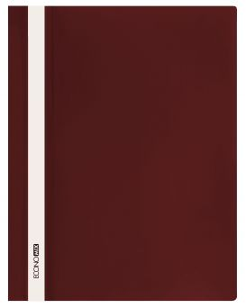 Папка - скоросшиватель с прозрачным верхом А4 без перфорации, бордовая.
