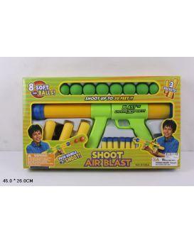 Автомат помповый, стреляет шариками для пин понга 8 шт., мягкие шары 3 шт., в коробке 45х26 см