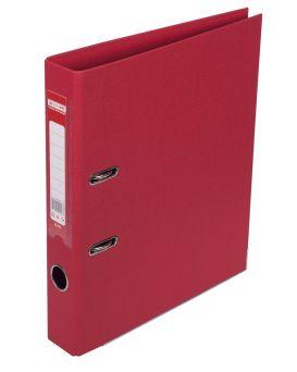 Регистратор А4 ELITE двухсторонний, сборный, 50 мм, PP, красный.