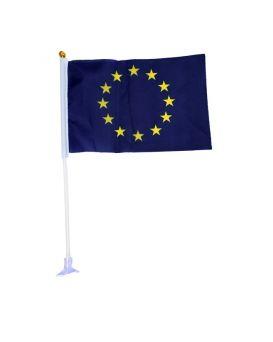 Флаг Евросоюза 10 х 15 см, на палочке, Имп
