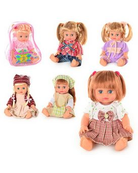 JT Кукла ОКСАНОЧКА 5138-5079-5141-5143 в ассортименте, муз(укр), 33см, в рюкзаке, 26-20-13см