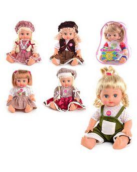 JT Кукла ОКСАНОЧКА 5139-5140-5055-5056 в ассортименте, муз(укр), 33см, в рюкзаке, 26-20-13см