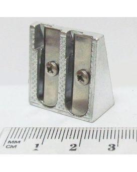 Точилка металлическая, двойная.