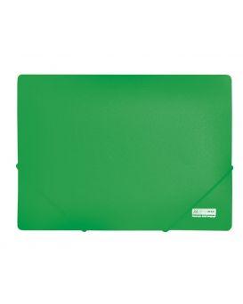 /Папка пласт. А4 на резинках, JOBMAX, зеленый