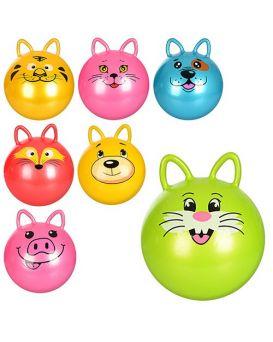 Мяч для фитнеса с ушками «Животные» 50 см, 400 гр, в ассортименте, в пакете 19х15х4 см