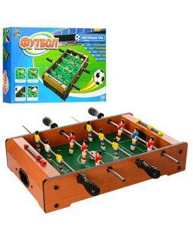 Футбол деревянный на штангах, игровое поле 49х31 см, мячи 2 шт. 3 см,  у кор. 53х30,5х6 см