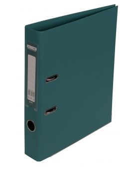 Регистратор А4 ELITE двухсторонний, сборный, 50 мм, PP, темно зеленый.