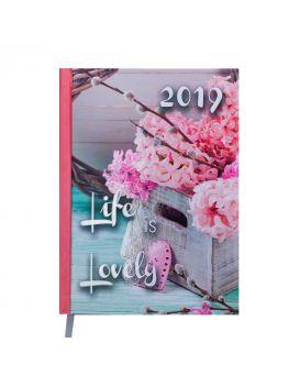 Ежедневник датированный 2022 год, A5 «ROMANTIC» светло - розовый