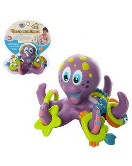 Игрушка для купания «Осьминог кольцеброс» кольца фигурные 5 шт., в ассортименте, в слюде 21х23х15 см