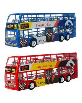 Автобус XY968 инер-й, 38см, двухэтажный, в ассортименте, в кульке, 38-13,5-8,5 см