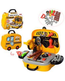 Набор инструментов 27 предметов, пила, отвертки, в чемодане на колесах 25х21х9 см
