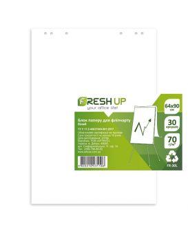 Блок бумаги для флипчартов 64 х 90 см., 30 л.