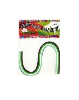 Бумага для квиллинга №8 4 цвета, толщина 5 мм, длина 420 мм «Весна»