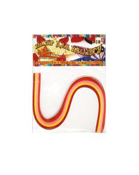 Бумага для квиллинга №10, 4 цвета, толщина 5 мм, длина 420 мм «Осень»