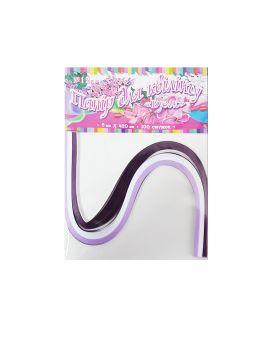 Бумага для квиллинга №12 3 цвета, толщина 5 мм, длина 420 мм «Сирень»