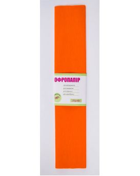 Гофро - бумага 110%, 50 х 200 см, оранжевая
