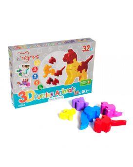 Пазл 3D «Животные» 32 элемента