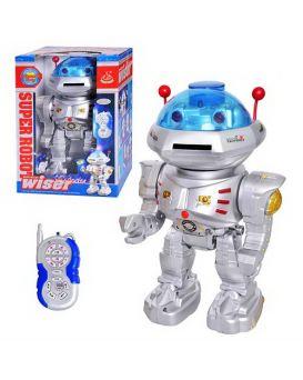 Робот 28072  р/у, стреляет дисками, на бат-ке, в кор-ке, 31,5-22-16см