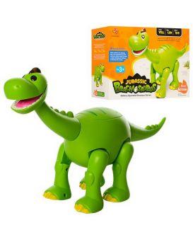 Динозавр 801 30см, ходит,звук,свет,подвижнчелюсть и хвост,на бат-ке,в кор-ке, 34-23,5-9,5 см