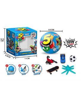 Герои 510 СЮРПРИЗ шар состоит из 5 сегментов в каждом игрушка, цена за 1шт, диаметр шара 8,5