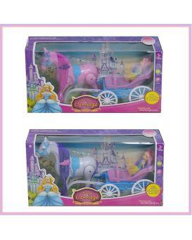 Карета с лошадью, куколкой, в ассортименте, в коробке 41х12х20 см