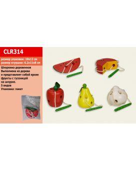 Деревянная игрушка «Шнуровка фрукты» 10 х 12 см, в ассортименте в пакете 6,2 х 11 х 8 см