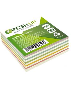 Блок бумаги для заметок 85х85мм 400 арк не клееный, классика Fresh Up