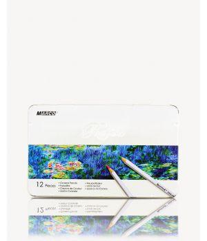 Карандаши шестигранные 12 цветов, в металлической упаковке «Reffine» ТМ Marco