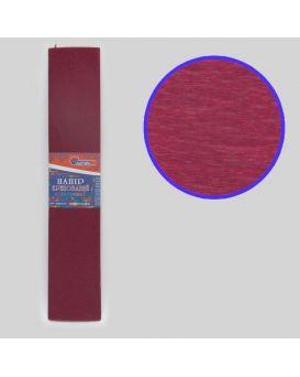 Гофро - бумага 110 %, 50 х 200 см, 20 гр/м2, бордовая