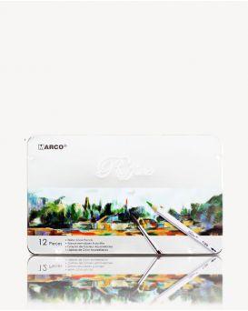 Карандаши акварельные 12 цветов «Reffine» в металлической упаковке, ТМ Marco