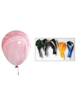 Шарики воздушные 30 см, мраморные, разные цвета, 100 шт. в уп.